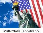 Statue Of Liberty On Hudson...