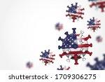 covid 19 . 3d floating corona... | Shutterstock .eps vector #1709306275