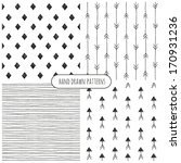 set of hand drawn patterns.... | Shutterstock .eps vector #170931236