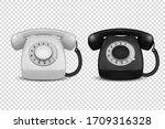 vector 3d realistic vintage... | Shutterstock .eps vector #1709316328
