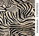 Seamless Zebra Pattern  African ...