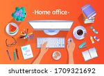 stay home concept. vector top... | Shutterstock .eps vector #1709321692
