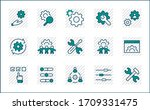 set of settings and setup... | Shutterstock .eps vector #1709331475