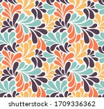 vector seamless pattern with... | Shutterstock .eps vector #1709336362