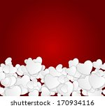 happy valentines day card with... | Shutterstock .eps vector #170934116
