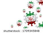 covid 19 . 3d floating corona...   Shutterstock .eps vector #1709345848