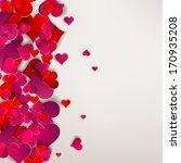 hearts on abstract love...   Shutterstock . vector #170935208