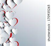 hearts on abstract love... | Shutterstock . vector #170935265