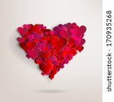 valentines day. abstract paper... | Shutterstock . vector #170935268