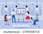 team thinking and brainstorming....   Shutterstock .eps vector #1709358715
