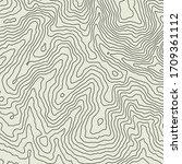 topographic map contour vector...   Shutterstock .eps vector #1709361112
