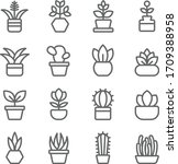 plant icon set vector... | Shutterstock .eps vector #1709388958
