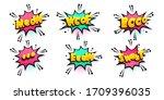 comic text speech bubble in...   Shutterstock .eps vector #1709396035
