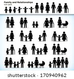 editable set of family... | Shutterstock .eps vector #170940962