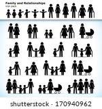 editable set of family... | Shutterstock .eps vector #170940962