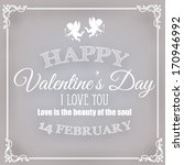valentine's day card | Shutterstock .eps vector #170946992
