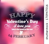 valentine's day card | Shutterstock .eps vector #170947016