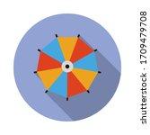 color umbrella flat long shadow ...
