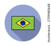 national flag of brazil in...