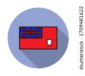 national flag of bermuda in...