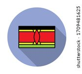 national flag of kenya in...