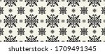 lace border. ikat seamless... | Shutterstock .eps vector #1709491345
