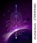 vector illustration of sacred... | Shutterstock .eps vector #1709495482