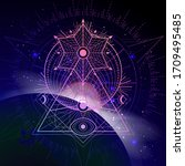 vector illustration of sacred... | Shutterstock .eps vector #1709495485