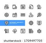internet security vector line...   Shutterstock .eps vector #1709497705