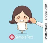doctor vaccinating cute girl.... | Shutterstock .eps vector #1709510905