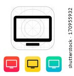 monitor screen icon. vector...