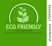 eco friendly  100 percent... | Shutterstock .eps vector #170955935