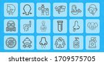 infection line icon set on... | Shutterstock .eps vector #1709575705