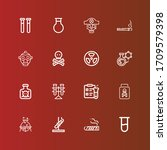 editable 16 toxic icons for web ... | Shutterstock .eps vector #1709579398
