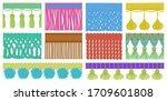 fringe vector cartoon set icon. ... | Shutterstock .eps vector #1709601808
