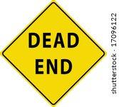 dead end street sign | Shutterstock .eps vector #17096122