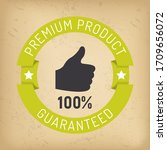 premium and proven quality... | Shutterstock .eps vector #1709656072