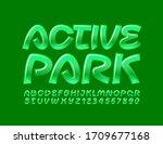 vector green logo active park.... | Shutterstock .eps vector #1709677168