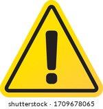 warning sign icon vector...   Shutterstock .eps vector #1709678065