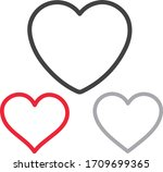 collection of heart... | Shutterstock .eps vector #1709699365