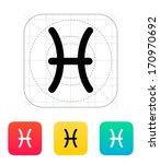 pisces zodiac icon vector... | Shutterstock .eps vector #170970692