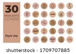 coffee. social media instagram...   Shutterstock .eps vector #1709707885