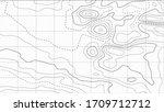 contour topographic map....   Shutterstock .eps vector #1709712712