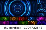 set of neon circle technology... | Shutterstock .eps vector #1709732548