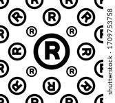 registered trademark icon ... | Shutterstock .eps vector #1709753758