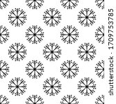 snowflake icon  snow seamless... | Shutterstock .eps vector #1709753785
