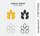 wheat plant cereal vector icon | Shutterstock .eps vector #1709754382