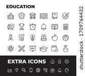 education vector line icons set.... | Shutterstock .eps vector #1709764432
