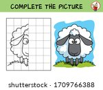 complete the picture of a funny ... | Shutterstock .eps vector #1709766388