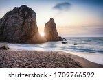 Sunset At Ursa Beach Sea Stack...